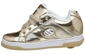 Heelys Split Gold Zapatos Tenis Con Ruedas Para Niñas