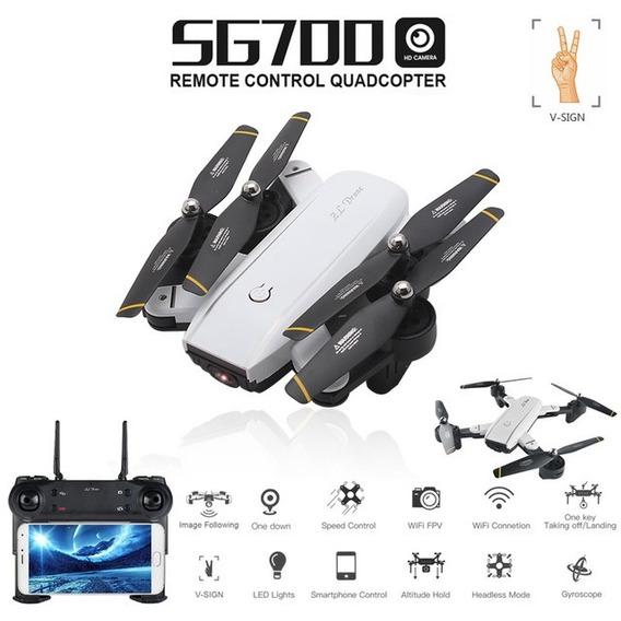 Drone Sg700 Dobrável Com /wi-fi Em Tempo Real - Câmera 2mp