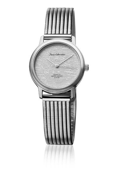 Relógio Pulso Jean Vernier Feminino Aço Prata Jv30952