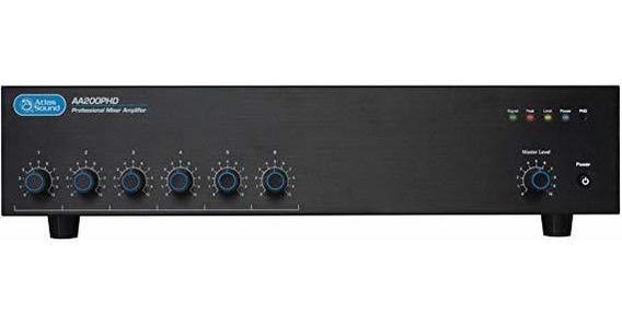 Amplificador Atlas Sound 200w 6 Entradas Mixer Amplificado ®