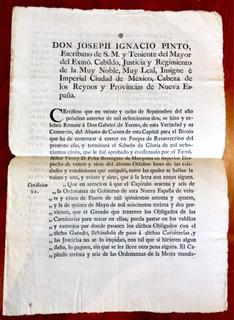 Documento Antiguo Siglo Xviii Firma Joseph Ignacio Pinto
