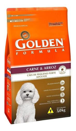 Ração Golden Premium Especial Formula para cachorro adulto da raça pequena sabor carne/arroz em saco de 3kg