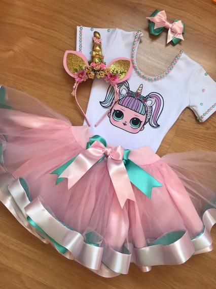 Fantasia Lol Surprise Unicornio C/ Tiara 2 / 4 / 6