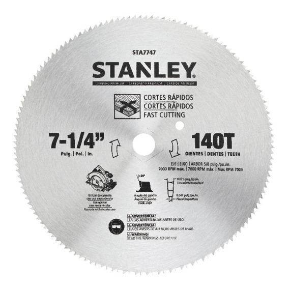 Disco De Serra Para Madeira 7-1/4 184mm 140 Dentes Stanley