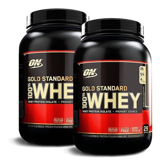 Proteina Whey Gold Standard 2 Lb Optimum X 2 Unidades