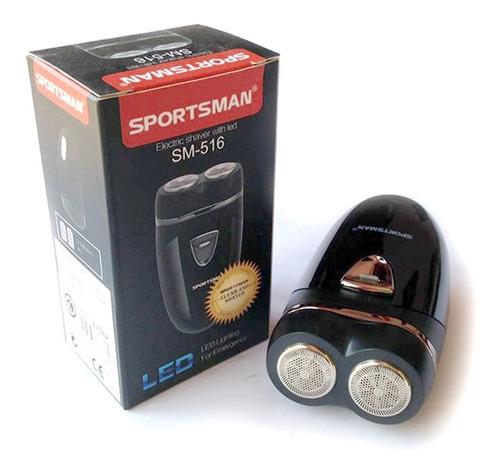 Mini Afeitadora Sportsman Portable Con Luz Led Bakanisimo