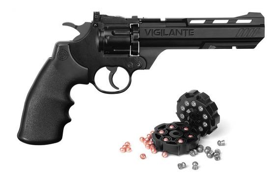 Revólver De Chumbinho E Esfera 4.5 10 Tiros Co2 Vigilante 8
