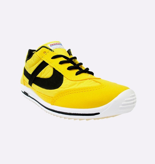 Tenis Hombre Panam Casual Amarillo Original