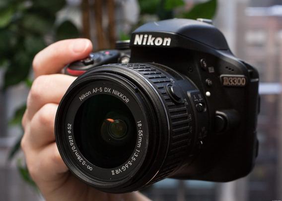 Camera Fotográfica Nikon D 3300 Muito Nova +bolsa+ Cartão 32