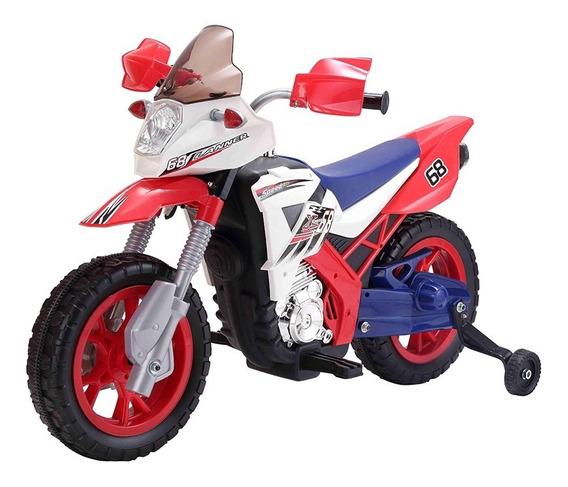 Moto Infantil A Batería Dakar Luces Suspension Musica 6v.