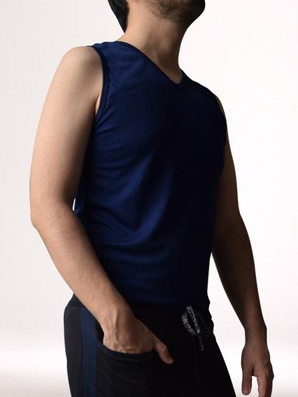 Camisa Hombre Básica Sin Mangas/ Tecnología Textil/