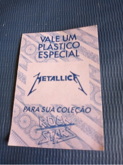 Metallica - Figurinha Premiada - Álbum Rock Star
