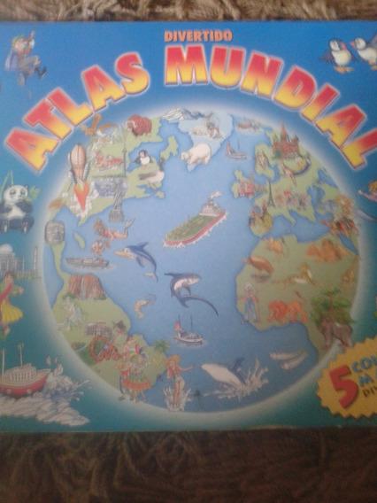 Livro Quebra Cabeça Atlas Mundial Divertido Para Crianças