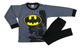 Pijama Superhéroes Niños Algodón Spiderman Superman Batman