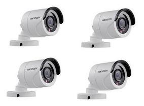 4 Camera Bullet Infra 10mt Lente 3.6mm 1mp Hikvision