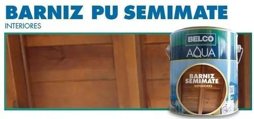 Barniz Pu Belco Aqua Semimate Interior 0.9 Lts - Ynter