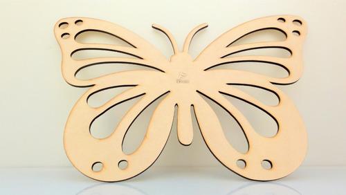 Imagen 1 de 4 de Mariposa Calada 30x20 - Mdf / Fibrofacil