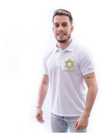 Camisa Polo Universitária Agronomia Masculina - Luxo