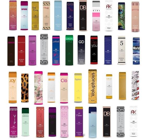 Kit 10 Perfumes 15ml Feminino Amakha Paris - Imperdível