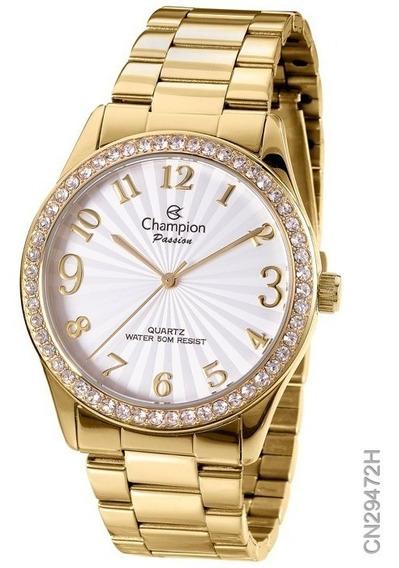 Relógio Feminino Champion Dourado Cn29472h
