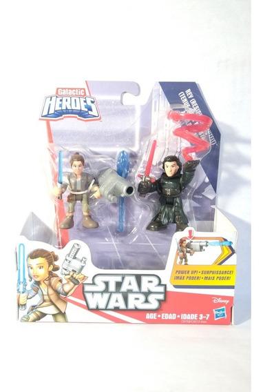 Star Wars Rey & Kylo Ren Plaskool Galactic Heroes