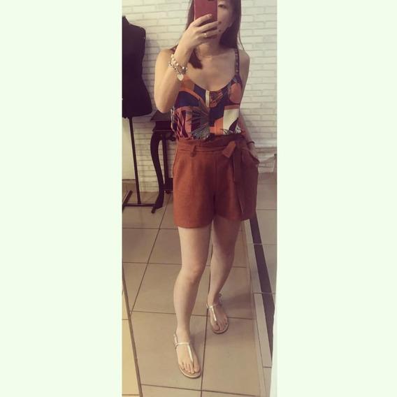 Short Feminino De Linho