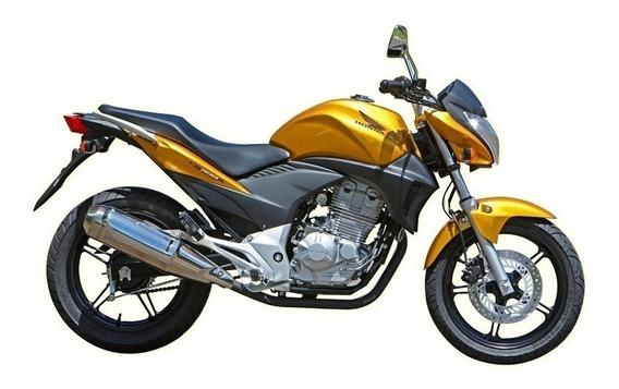 Amarelo Caju Perol - Honda Cb 300 + Primer + Verniz Em Spray