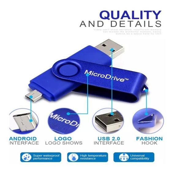 Pendrive 8gb Compatible Usb 2.0 Y Celular Android