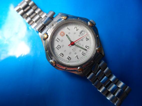 Relógio Wenger Swiss Sak Desing Calendário Fundo Branco
