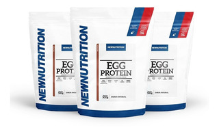 Combo 3 Egg Protein 500g Newnutrition - Pronta Entrega!