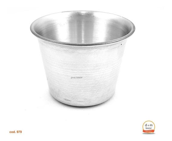 Flanero Con Borde N°5 D 7,5 H 6,2cm. Aluminio Real