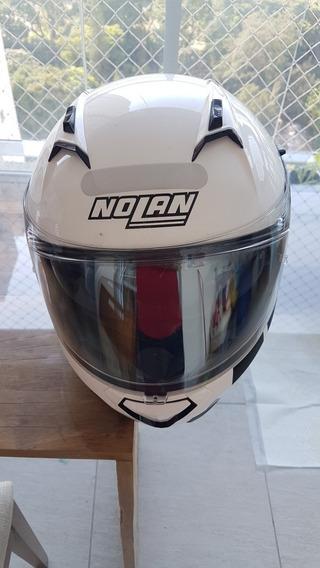 Capacete Nolan N87 Classic - Branco Metálico 58 Cm M