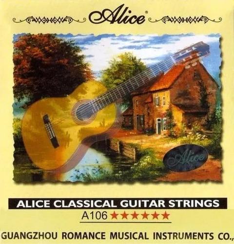 Encordoamento De Violão Clássico Nylon Alice A106