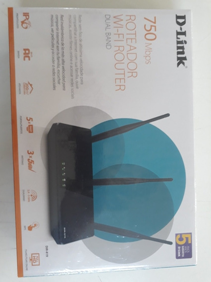 Roteador Wi-fi Routet Dual Band 750 Mbps D-link