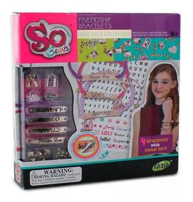 Pulseiras My Style Mini Kit Com Letras Para Personalizar
