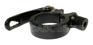 Collar Portasilla Aluminio Negro Con Cierre Rapido 31.8 Mm