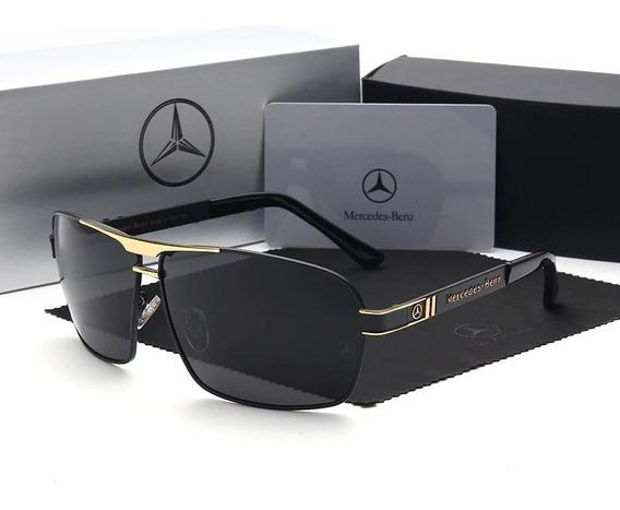 Óculos De Sol Mercedes- Benz- Black Uv400 + Estojo Completo