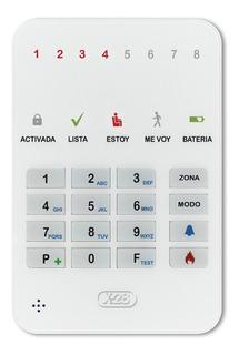 Mini Teclado T8m Mpxh Ultra Fino Led 8 Zonas Alarma X-28