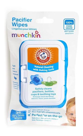 Lenços Para Chupetas Pacifiers Wipes Munchkin 36 Unidades
