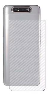 Pelicula Full Cover 6d Galaxy A80/a90 + Skin Traseira Carbon