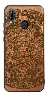 Funda Huawei Nova 3 - Calendario Azteca - Madera Grabada
