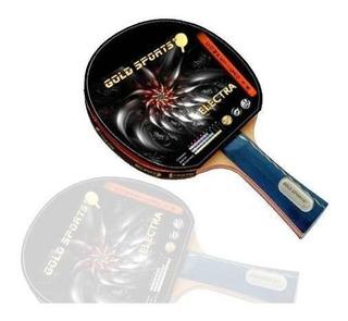 Raquete Ping Pong Electra Gold Sports Tenis De Mesa + -