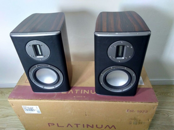 Par De Caixas Monitor Audio Pl100 Ebony + Caixa Original