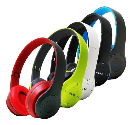 Fone Ouvido Sem Fio Bluetooth Chamadas Sd Fm Mp3 Usb Aux P2