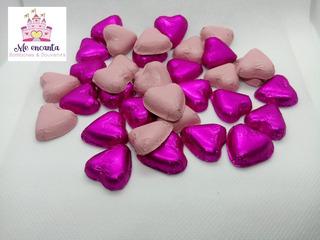 100 Bombones Corazón Envueltos Ideales Para Souvenirs