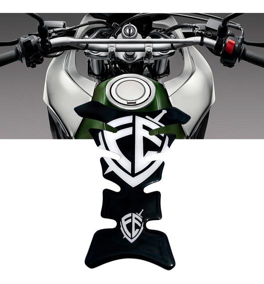 Adesivo Protetor De Tanque Tank Pad Moto Universal Fé Preto