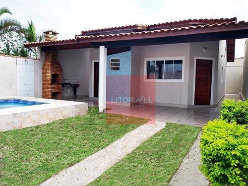 Imagem 1 de 17 de Casa Com 3 Dormitórios À Venda, 120 M² Por R$ 397.000 - Jardim Bopiranga - Itanhaém/sp - Ca1349