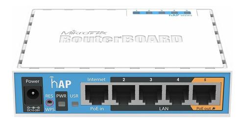 Access point interior MikroTik RouterBOARD hAP ac lite RB952Ui-5ac2nD blanco/azul 1 unidad
