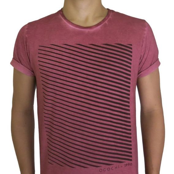 Camiseta Masculina Gola O Ogochi - Frete Grátis - S/ Juros