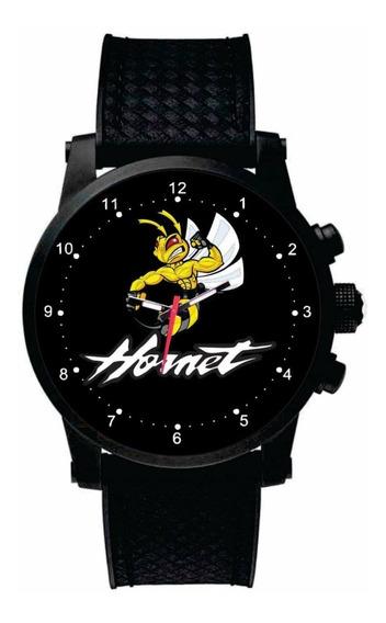 Relógio De Pulso Personalizado Logo Moto Hornet Esportiva